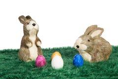 二只复活节兔子 免版税库存照片