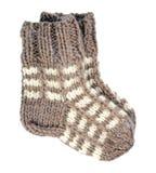 二只羊毛袜子 免版税库存照片