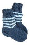二只羊毛袜子 库存照片