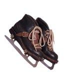 二只老冰鞋 免版税库存图片