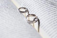 二只金戒指 库存照片