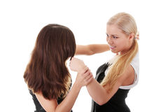 二名妇女战斗 图库摄影
