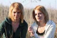 二名妇女 免版税图库摄影