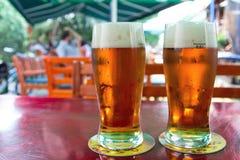 二啤酒 库存照片
