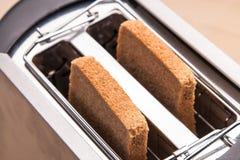 二在多士炉的热面包多士 免版税图库摄影