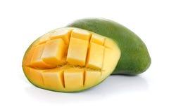 二在白色的manggo 免版税库存照片