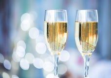二块香槟玻璃 图库摄影
