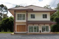 二层楼的房子, 10月22 2016,家庭地点在泰国的清莱省 放大 免版税图库摄影