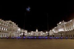 二意大利广场的里雅斯特部件 库存照片
