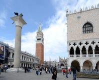 二意大利marco广场圣・威尼斯 库存图片