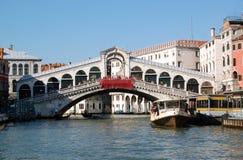 二意大利ponte rialto威尼斯 库存图片