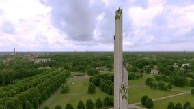 二战对苏联军队的胜利纪念碑在里加,拉脱维亚 影视素材