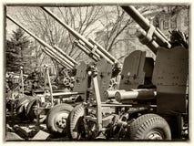 从二战时的大炮 库存图片