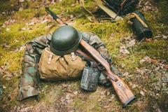 二战的德国军用弹药 免版税图库摄影