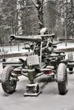 从二战的老大炮 免版税库存照片