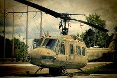 二战纪念品1968年越南UH-1 Huey直升机3 免版税库存图片
