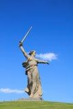 二战纪念祖国电话,伏尔加格勒 库存图片
