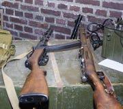 二战老苏联俄国步枪  红军武器  免版税库存图片
