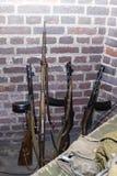 二战老苏联俄国步枪  红军武器  库存图片