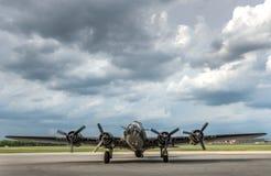 二战轰炸机葡萄酒航空器 免版税图库摄影