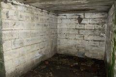 二战重的防空电池Gunsite 免版税库存照片