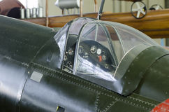 二战飞机驾驶舱 免版税库存图片