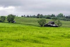从二战,斯洛伐克的俄国坦克T-34 图库摄影