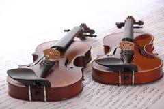 二把小提琴 免版税库存照片