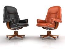 二把皮革扶手椅子 免版税库存照片