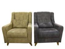 二把皮革扶手椅子 免版税图库摄影