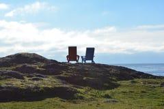 二把Adirondack椅子 免版税库存图片