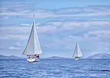 二条游艇 免版税库存照片