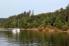 二条游艇 库存图片