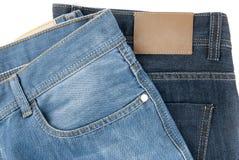 二条蓝色牛仔裤 免版税库存图片