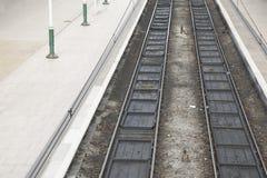 二条铁路轨道 免版税库存图片
