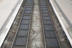 二条铁路轨道 库存照片