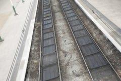 二条铁路轨道 库存图片