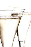 二杯香宾特写镜头 库存照片