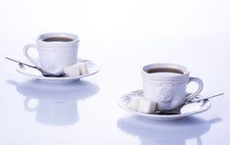 二杯茶 免版税图库摄影