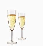 二杯闪耀的香槟 免版税库存照片