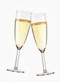 二杯闪耀的香槟 库存图片