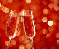 二杯香槟 库存照片