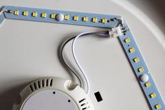 二极管小条 被带领的光磁带特写镜头 库存照片