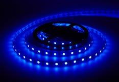 二极管小条 被带领的光磁带 库存图片
