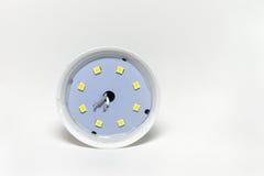 二极管灯特写镜头的内部结构 库存照片
