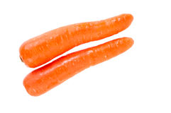 在白色背景的红萝卜菜 免版税库存照片