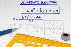 二次方的等式 库存照片