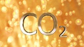 二氧化碳泡影 免版税库存照片