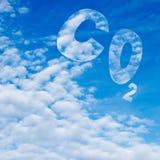 二氧化碳 皇族释放例证
