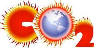 二氧化碳flammenkreis globus 皇族释放例证